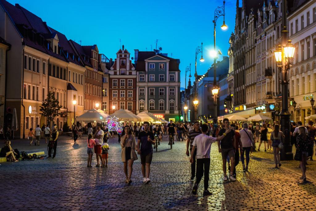 Wrocław wieczorem