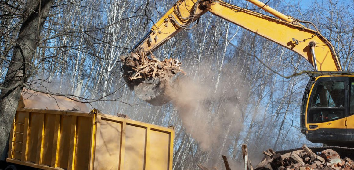 kontener na odpady budowlane